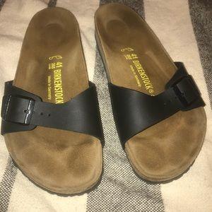 Birkenstock black Madrid one strap sandals